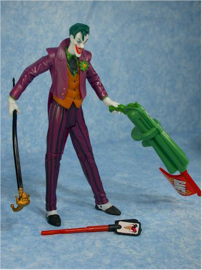 Zipline Batman, Quick Fire Joker action figure by Mattel