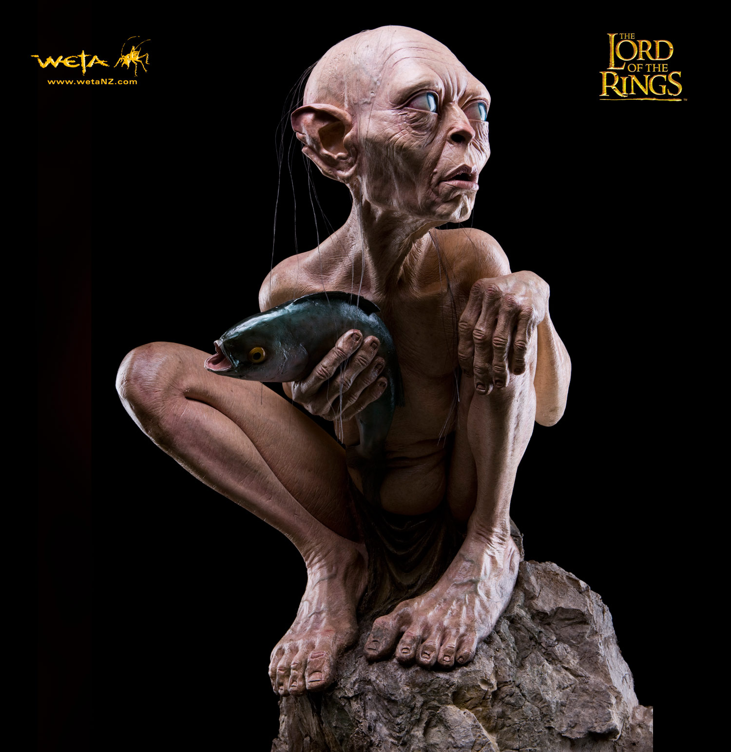 Lord of the Rings Gollum statue by Weta