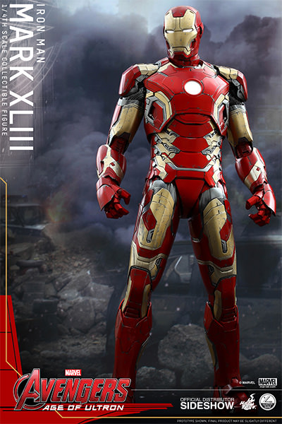 Iron Man MK43 quarter scale figure by Hot Toys