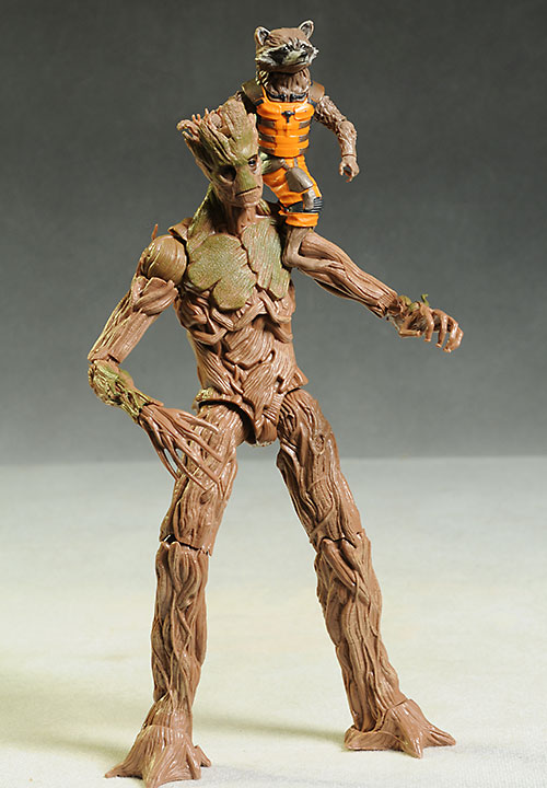 Marvel Legends Groot, Green Goblin, Mandroid action figures by Hasbro