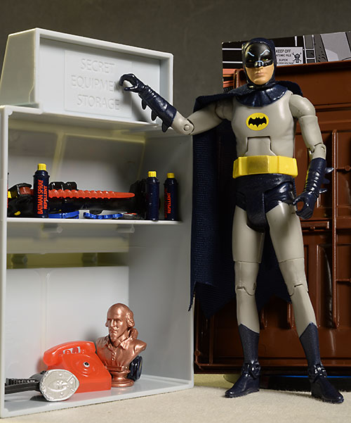 1966 Batman Batcave action figure set by Mattel