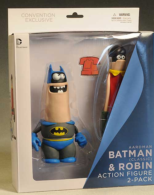 Batman and Robin Aardman action figures by DC Collectibles