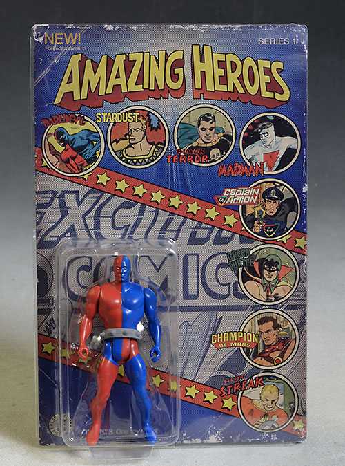 Amazing Heroes Black Terror, Captain Action, Stardust, Daredevil, Silver Streak action figure by Fresh Monkey Fiction