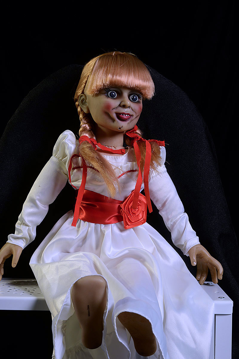 Review and photos of Annabelle scaled prop replica doll by Mezco