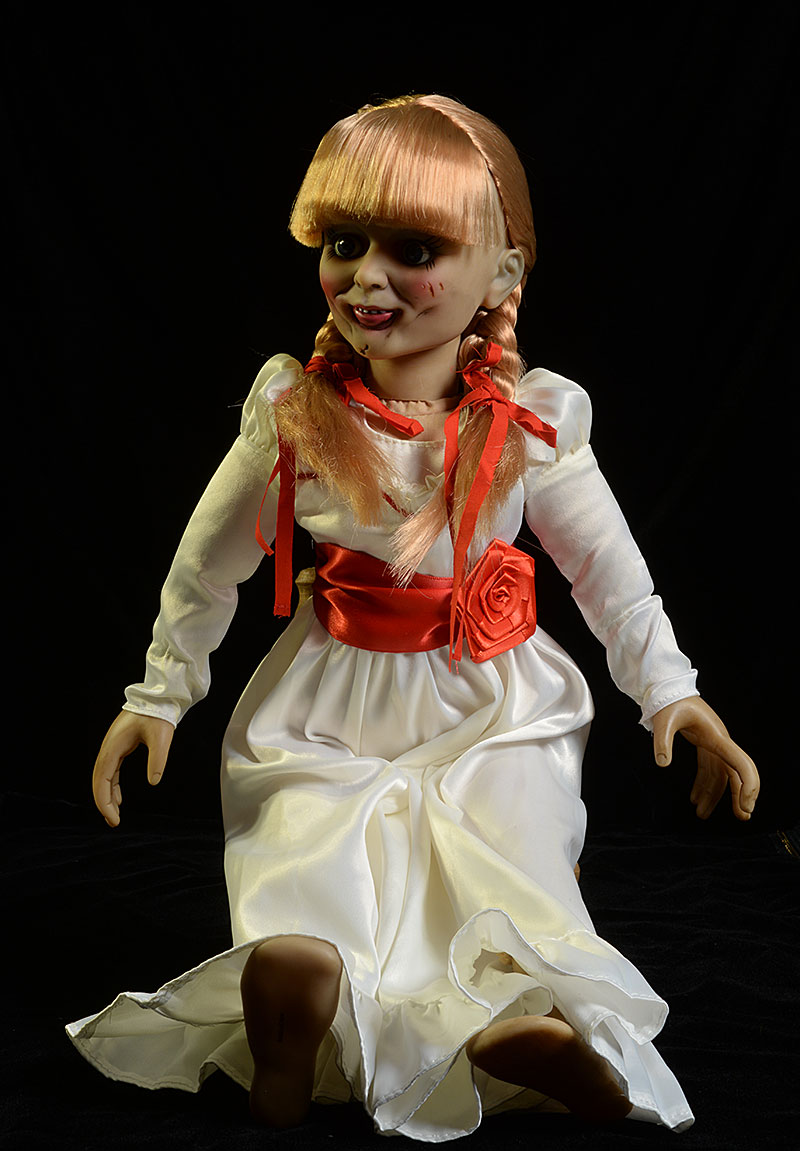 Review and photos of annabelle scaled prop replica doll by for Movie photos for sale