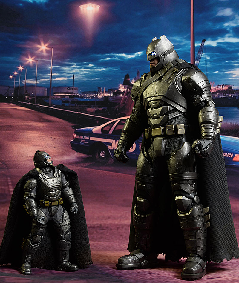 Armored Batman One:12 Collecive & sixth scale action figures by Mezco - Hot Toys