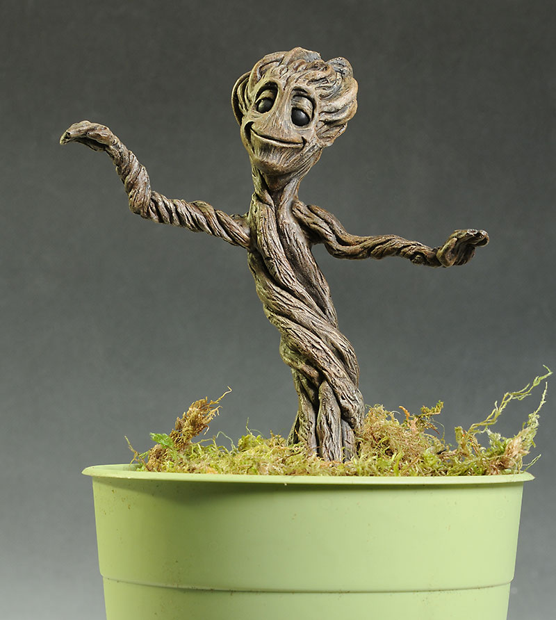 Guardians of the Galaxy Baby Groot statue by Sculptorio