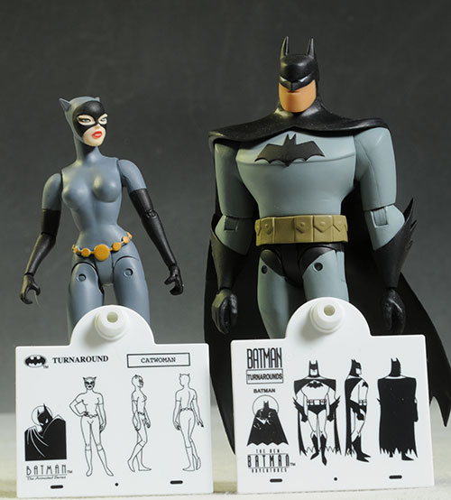 Batman & Catwoman animated action figures by DC Collectibles