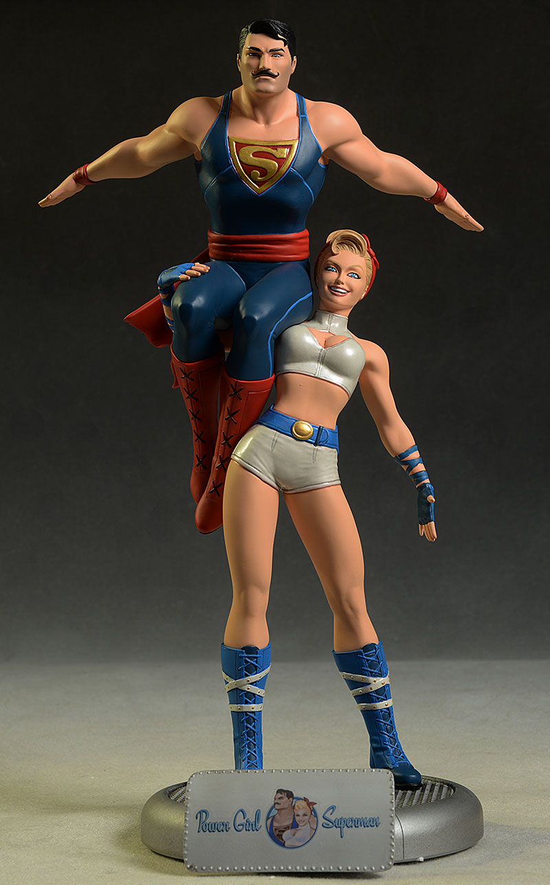 DC Bombshells Power Girl, Superman statue by DC Collectibles