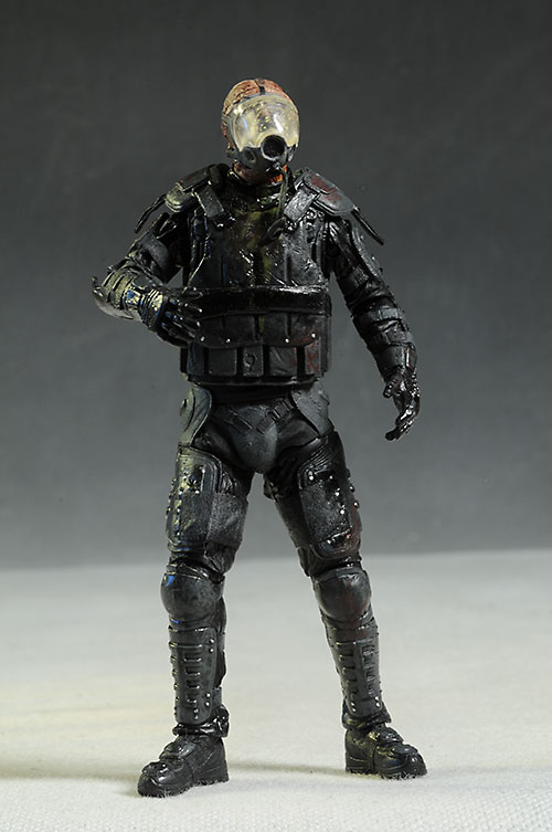 Gas Mask Zombie Walking Dead action figure by McFarlane Toys