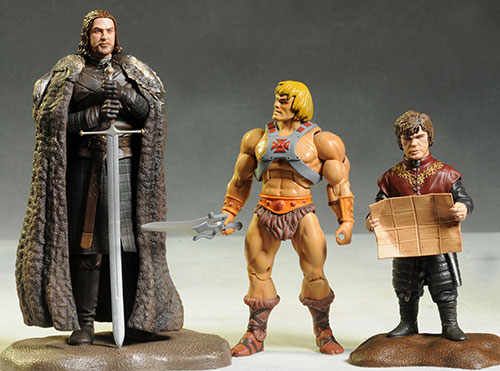 Game of Thrones Drogo, Tyrion, Ned Stark figures by Dark Horse