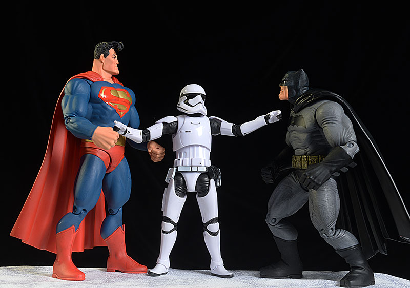 Dark Knight Returns Batman, Superman action figures by DC Collectibles