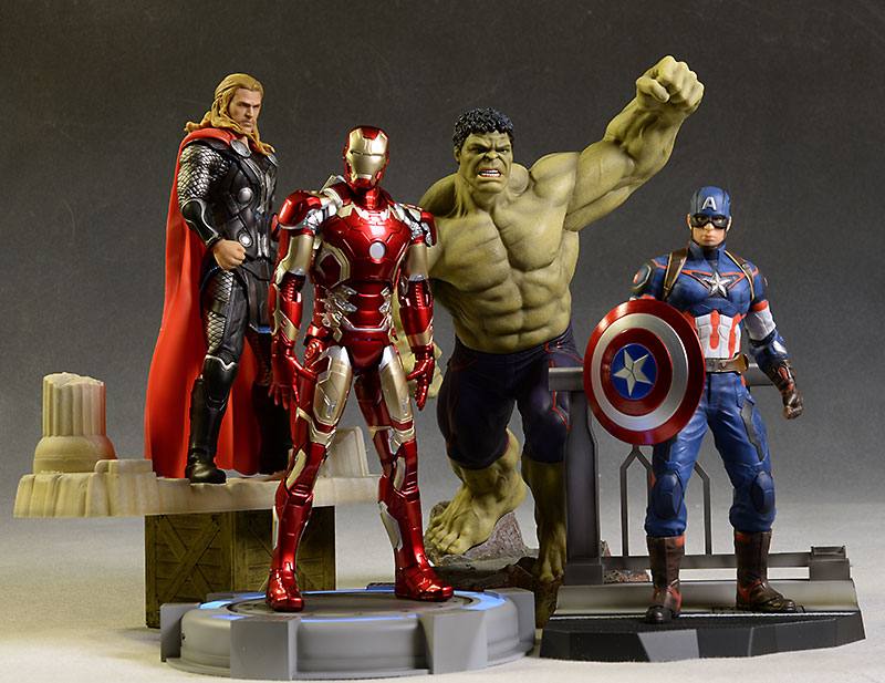 Avengers Action Heroes Vignettes Iron Man, Hulk statue by Dragon