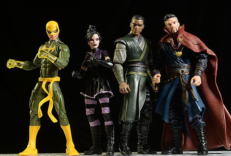 Marvel Legends Doctor Strange, Mordo, Iron Fist, Minoru figures by Hasbro
