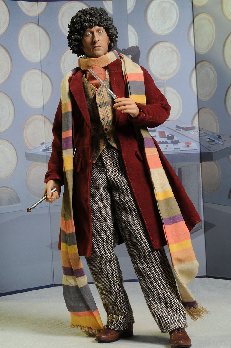 Dr. Who Tom Baker Fourth Doctor action figure by Big Chief  sc 1 st  Captain Toy : dr who 4th doctor costume  - Germanpascual.Com