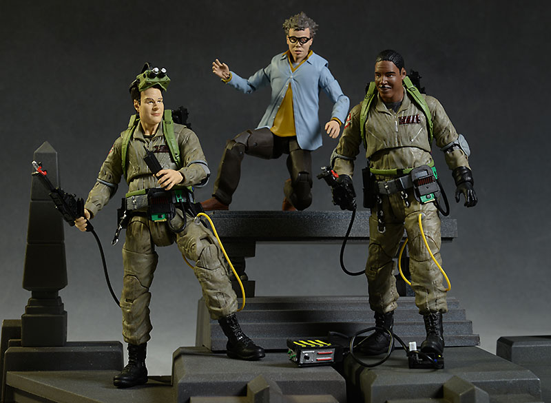 Ghostbusters Winston, Ray, Louis action figures by Diamond Select