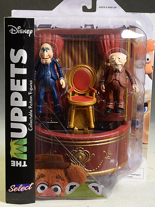 Muppets Statler, Waldorf, Animal, Honeydew, Beaker action figures by DST
