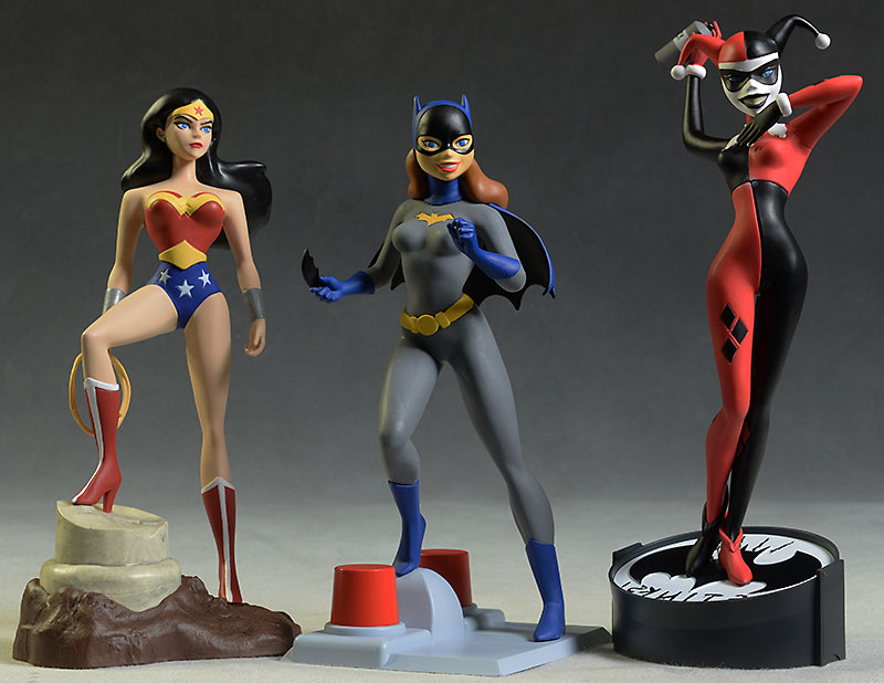 Femme Fatales Harley, Wonder Woman, Batgirl statue by Diamond Select Toys