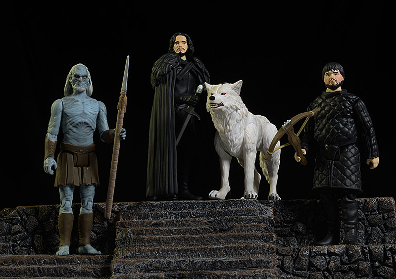 Jon Snow, Ghost, Sam Tarly, White Walker Game of Thrones action figure by Funko