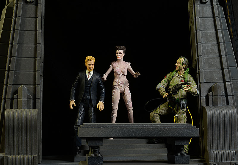 Ghostbusters Peck, Gozer, Slimed Peter action figures by Diamond Select Toys