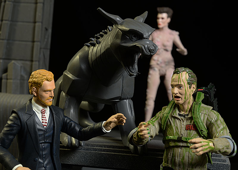 Ghostbusters Peck, Gozer, Slimed Peter action figure by Diamond Select Toys