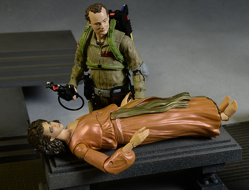 Ghostbuster Peter Venkman, Dana Barrett action figures by Diamond Select Toys