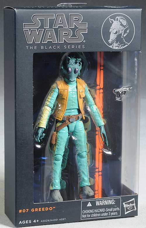 Greedo & Han Solo Star Wars Black action figures from Hasbro
