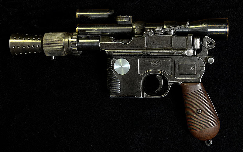 Han Solo's Blaster Star Wars Prop Replica by Todd's Costumes