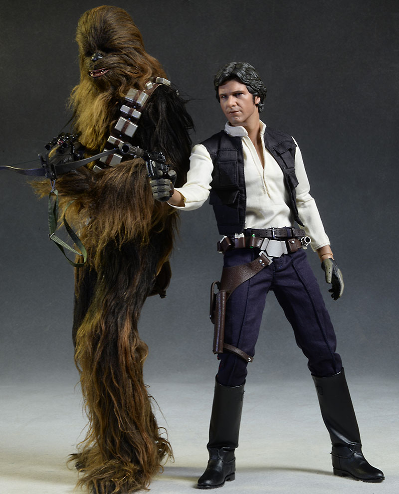 Star Wars Chewbacca and Han Solo action figure by Hot Toys