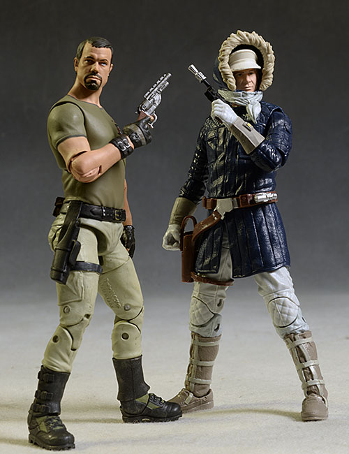 Star Wars Black Han Solo, Tauntaun action figures by Hasbro