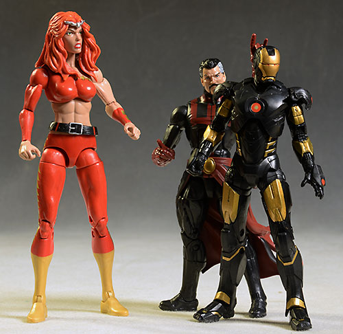 Marvel Legends Doctor Strange, Thundra, Iron Man figures by Hasbro