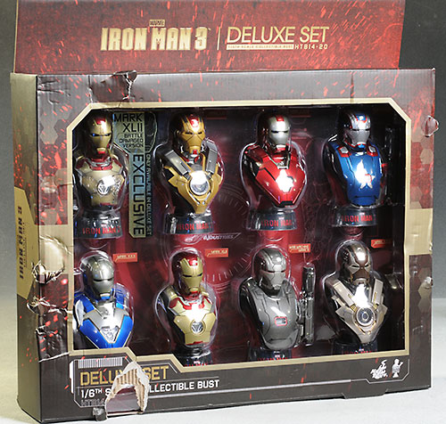 Iron Man 3 mini-busts by Hot Toys