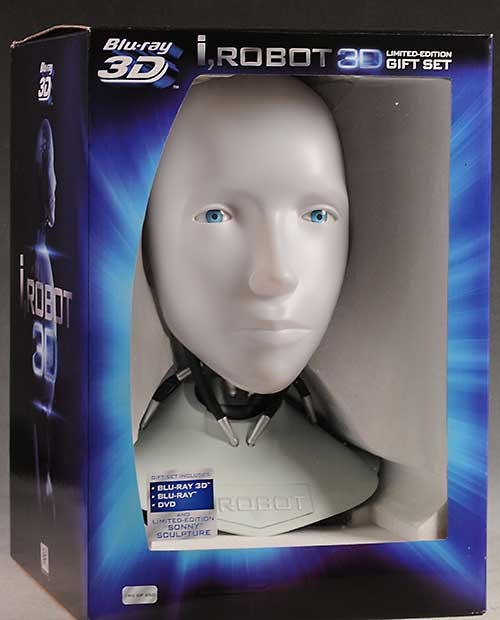 I, Robot 1:1 scale head blu-ray case