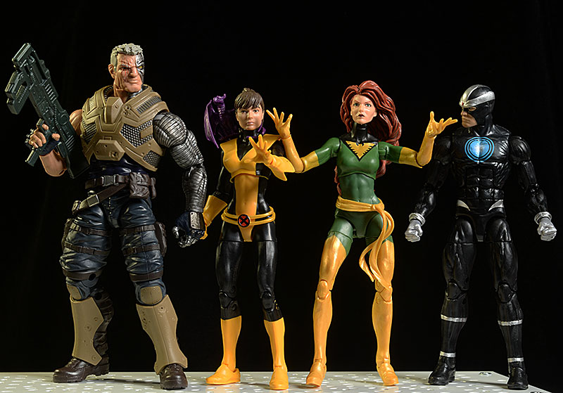 Marvel Legends Havoc, Phoenix, Kitty Pryde, Cable action figures by Hasbro