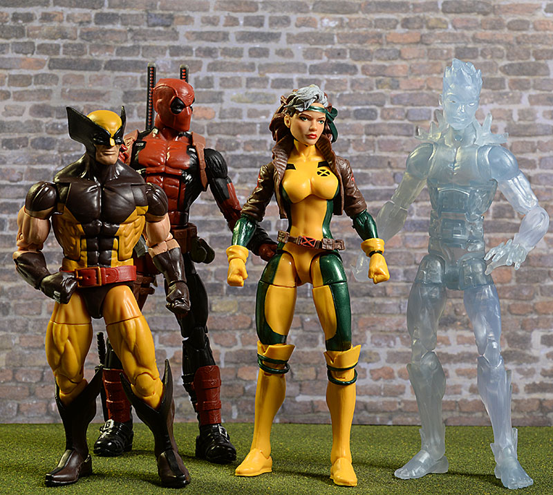Marvel Legends Rogue, Wolverine, Deadpool, Iceman action figures by Hasbro