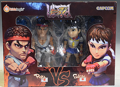 Street Fighter Ultra Ryu, Sakura action figures by Kids Logic