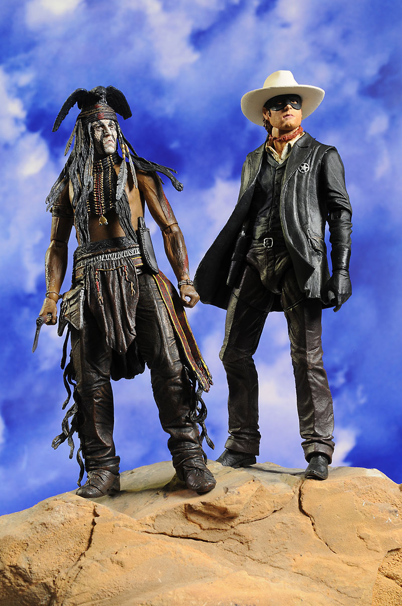 Lone Ranger and Tonto action figures by NECA