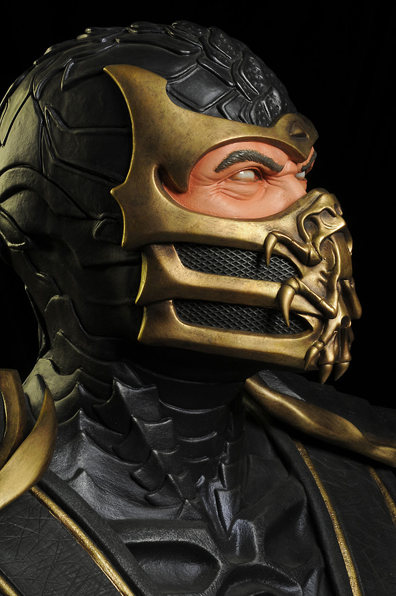 Mortal Kombat Scorpion life size bust by Pop Culture Shock