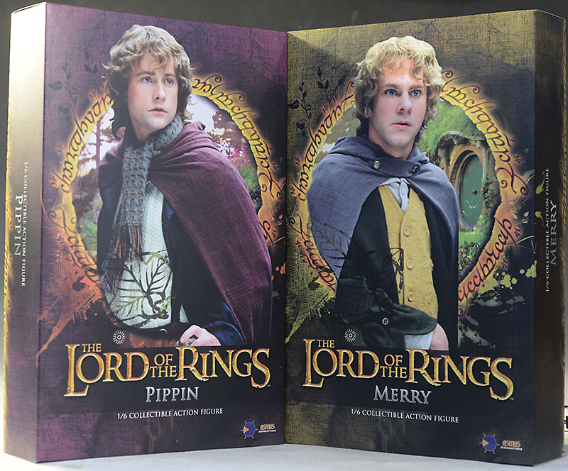 Merry, Pippin Lord of the Rings 1/6th action figure by Asmus