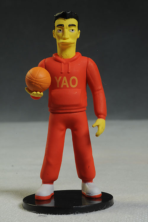 Yao Ming Simpsons PVC mini action figures by NECA