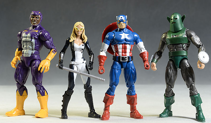 Marvel Legends Captain America, Mockingbird, Cottonmouth, Whirlwind action figure by Hasbro
