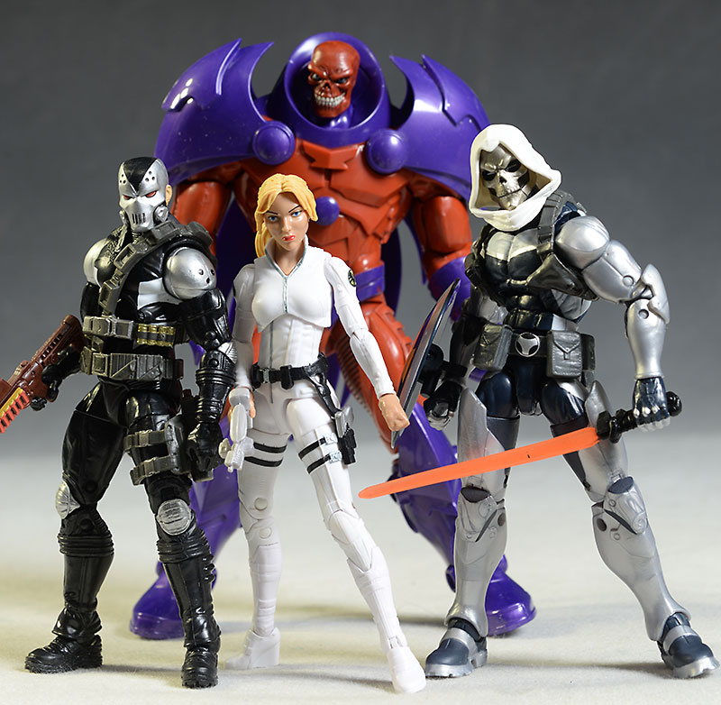 Marvel Legends Taskmaster, Sharon Carter, Red Skull, Demolition Man action figure by Hasbro