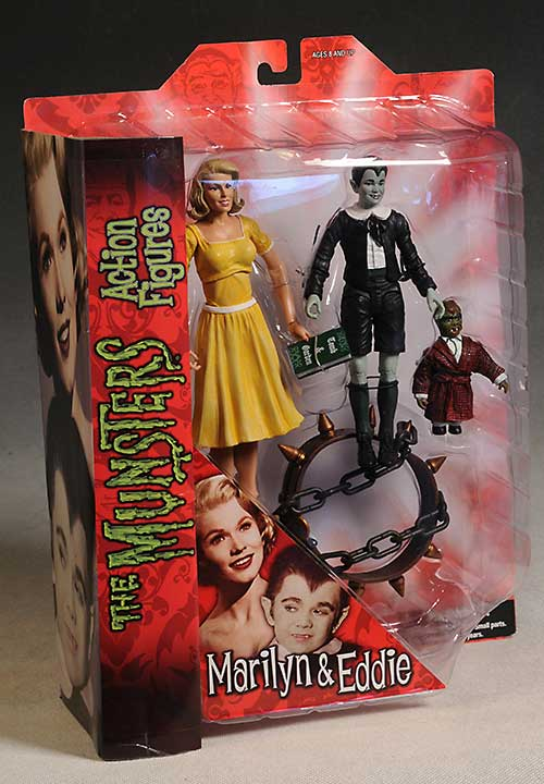 Eddie and Marilyn Munsters action figures by Diamond Select Toys