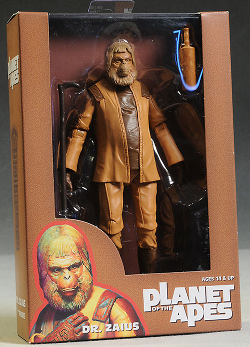 ZAIUS ACTION FIGURE NECA MOVIE RISE DOCTOR CLASSIC PLANET OF THE APES DR