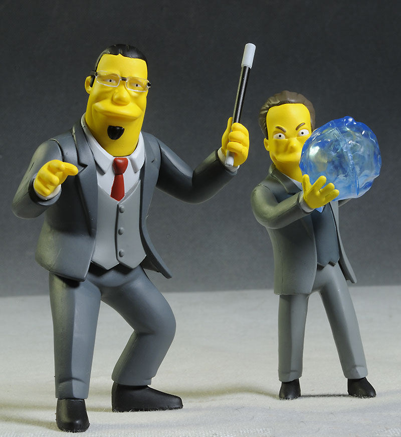 NECA Simpsons Penn, Teller action figure