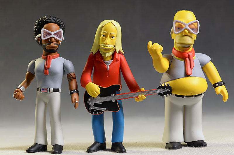 Tom Petty, Lenny Kravitz Simpsons acction figures by NECA