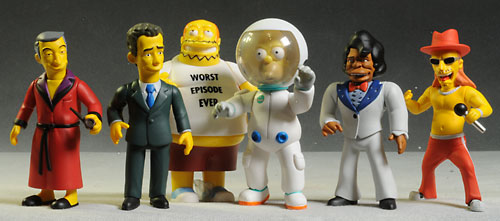 Simpsons Celebrity action figures by NECA
