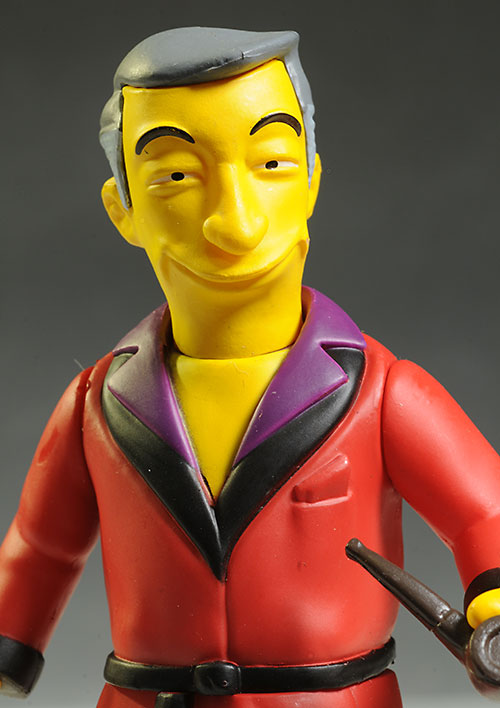 Hugh Hefner Simpsons Celebrity action figures by NECA