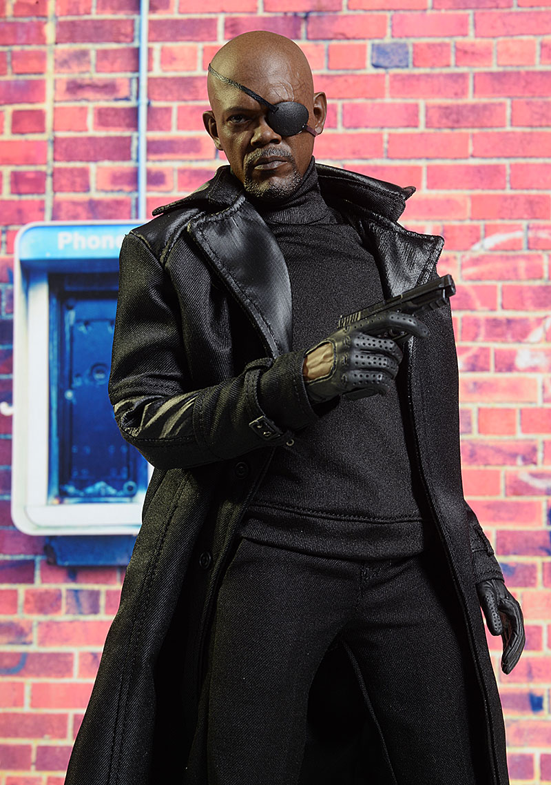 Captain America Winter Soldier Nick Fury action figure by Hot Toys