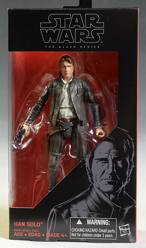 Star Wars Black Trooper Finn, Old Han Solo action figure by Hasbro